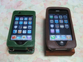 iPhone 3G with Leather Case