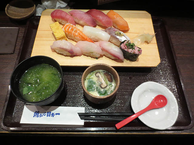 魚がし日本一の魚がしにぎり