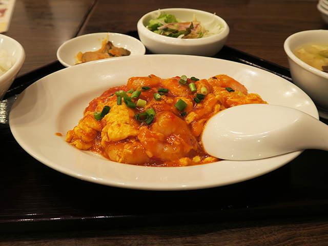 大連餃子基地DALIAN 海老と卵のチリソース定食, #2