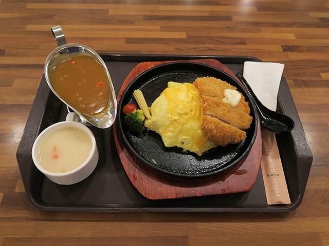 台北駅フードコート, チキンカツオムライスカレーセット