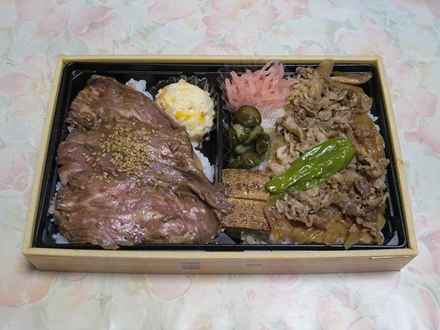 東京駅グランスタ限定 牛肉グリル&すきやき重