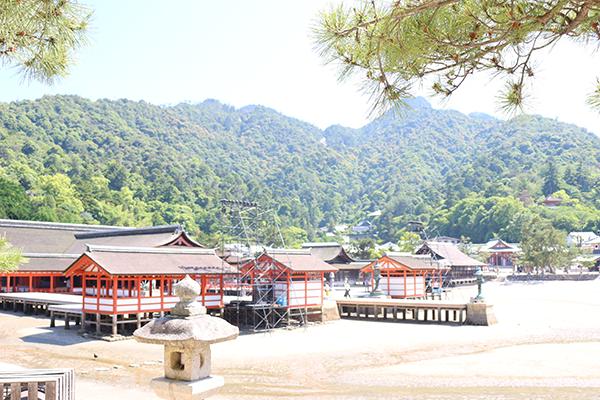 厳島神社 干潮時