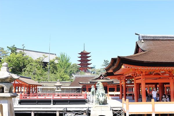 厳島神社 本殿 高舞台 西回廊