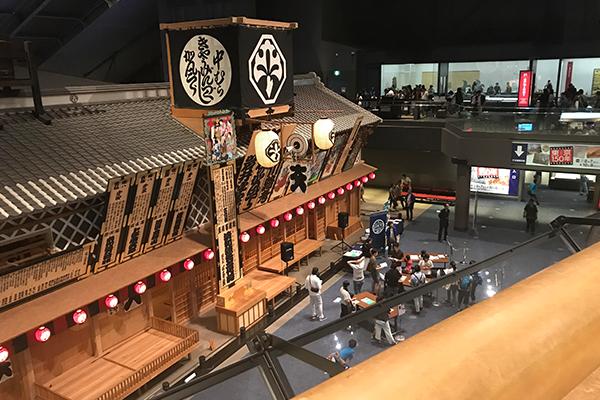 江戸東京博物館 展示室 江戸時代 歌舞伎 芝居小屋 中村座 復元