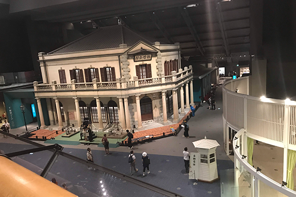 江戸東京博物館 展示室 東京 朝野新聞社 復元