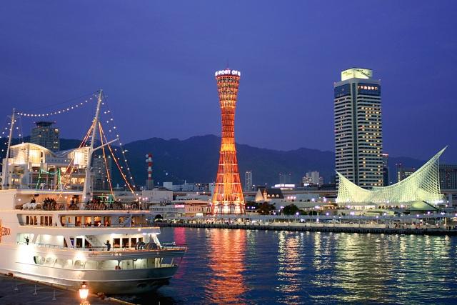 神戸の港の様子