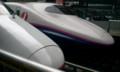 [twitter] 東北新幹線初乗車。記念撮影。