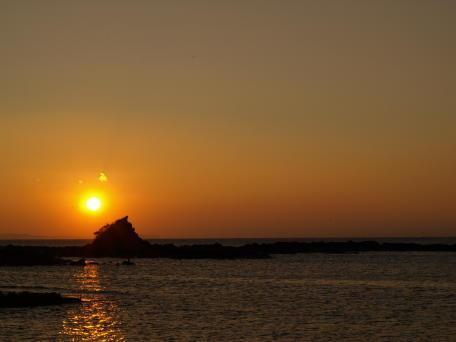 三崎漁港の朝焼け