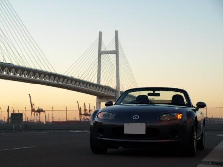 早朝の横浜ベイブリッジ(その1)