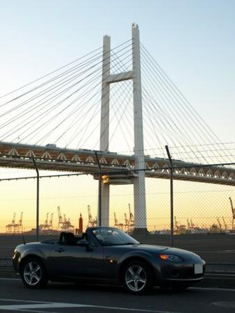 早朝の横浜ベイブリッジ(その2)