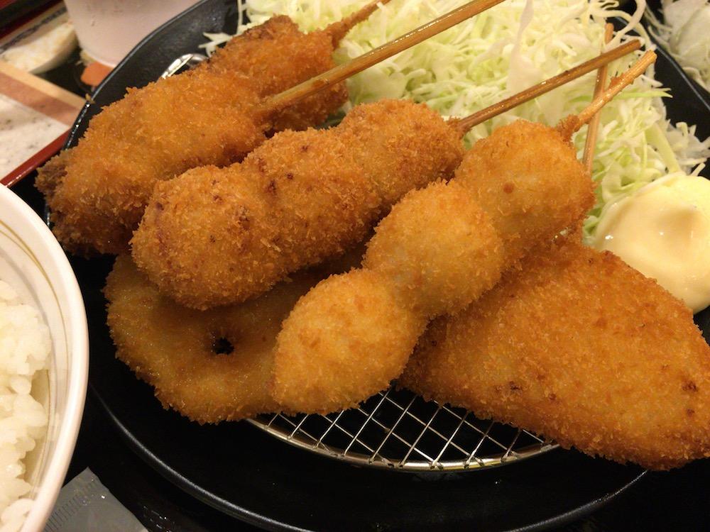 串カツ田中 KITTE博多店 串カツ定食