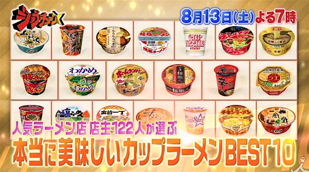 人気ラーメン店店主122人が美味しいと思うカップ麺 ノミネート商品