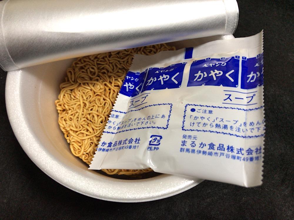 ペヨング ヌードル 醤油味 中身