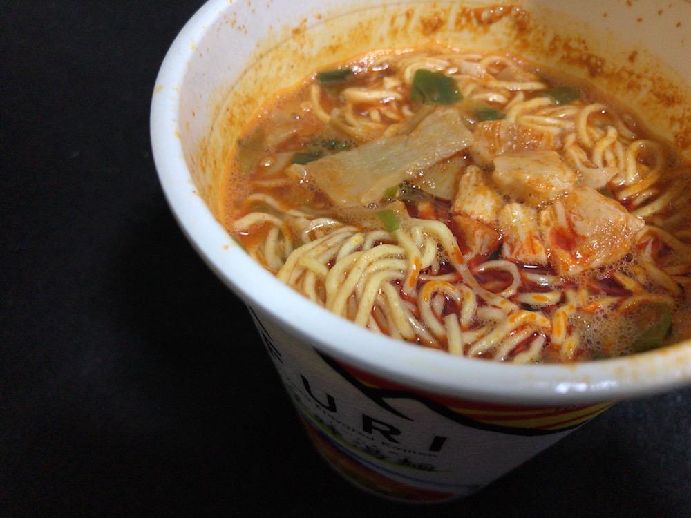 日清 THE NOODLE TOKYO AFURI 限定 柚子辣湯麺 出来上がり