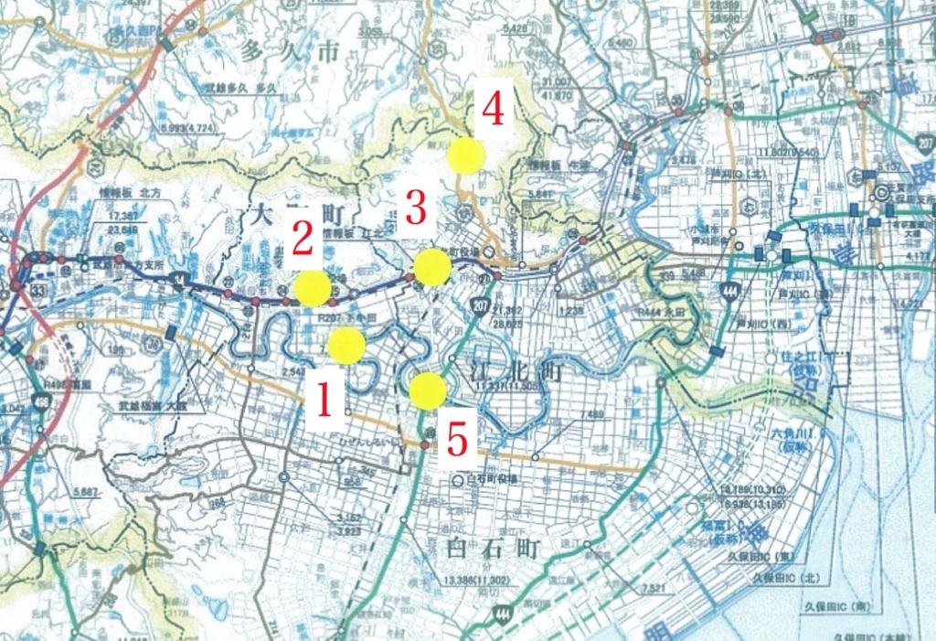 2017.2.6一般車両消毒ポイント 地図