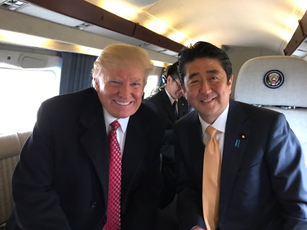 安倍総理 trump LOVE