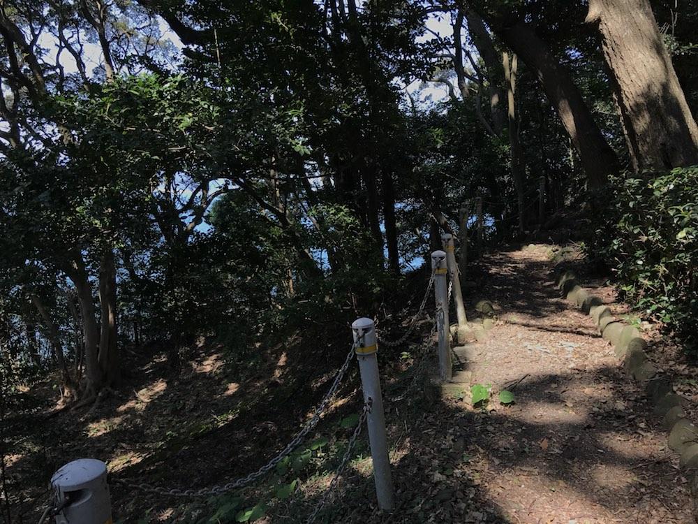 小島古墳 前方後円墳 道