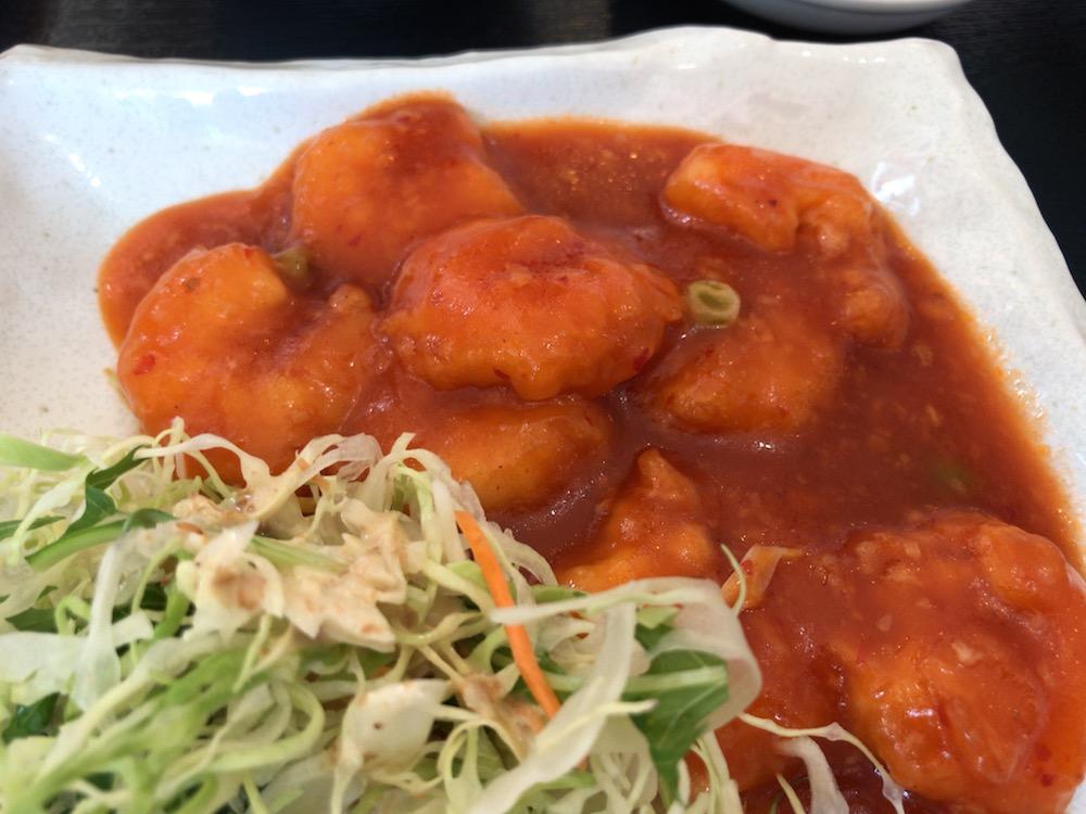 中華料理 萬福 エビチリ定食