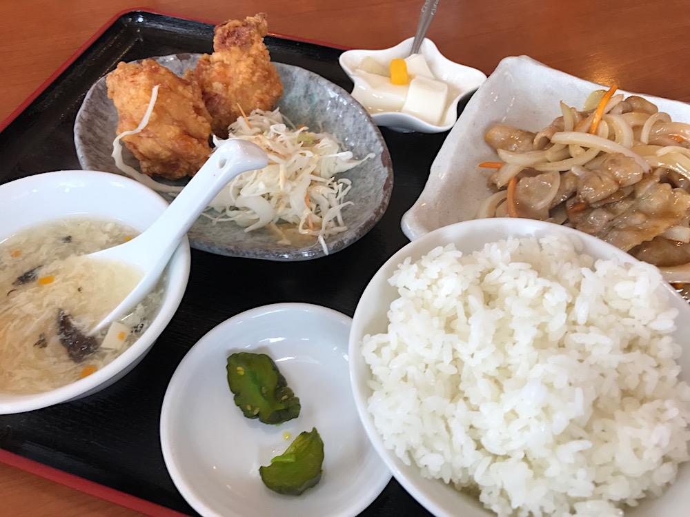 中華料理 萬福 生姜焼き定食