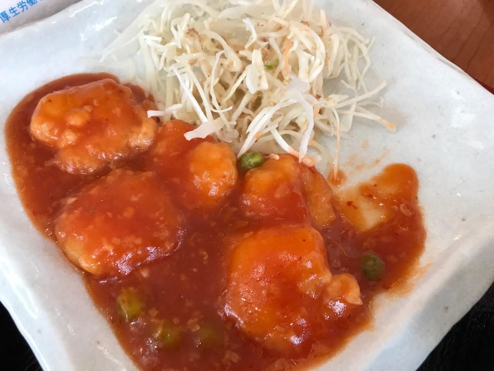 中華料理 萬福 ランチ エビチリ