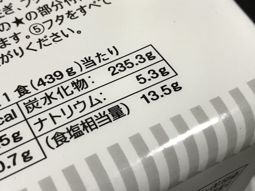 ペヤングソース焼きそば 超超超大盛GIGAMAX 食塩相当量