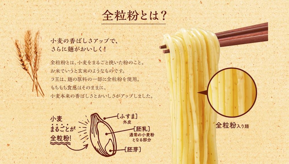 ラ王袋麺豚骨 リニューアル 全粒粉とは?