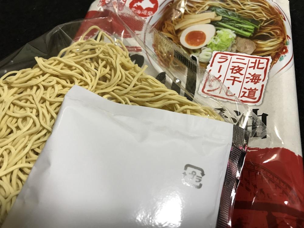 藤原製麺 北海道二夜干しラーメン旭川醤油 中身