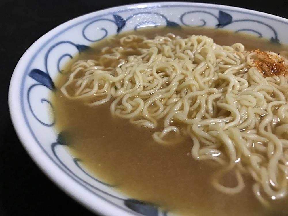 サッポロ一番 みそラーメン50周年記念 今限定 九州麦味噌使用 出来上がり