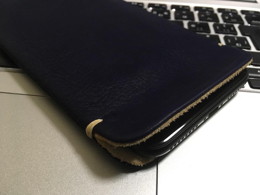 ありん iPhone7Plus本牛革レザースリーブケース ネイビー