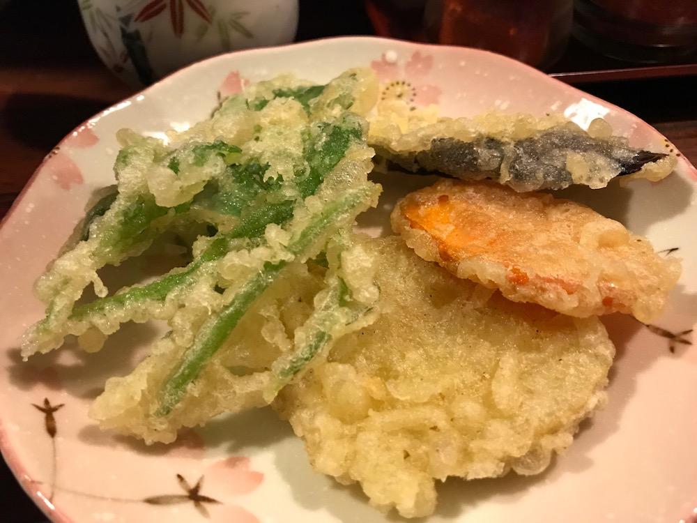 松原うどん やさいうどん 天ぷら別皿