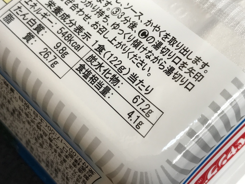 北海道ジンギスカン風やきそば 食塩相当量