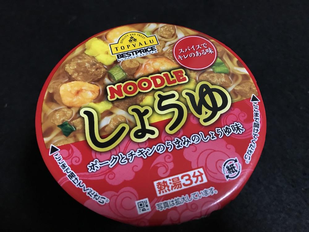 スパイスでキレのある味Noodleしょうゆ