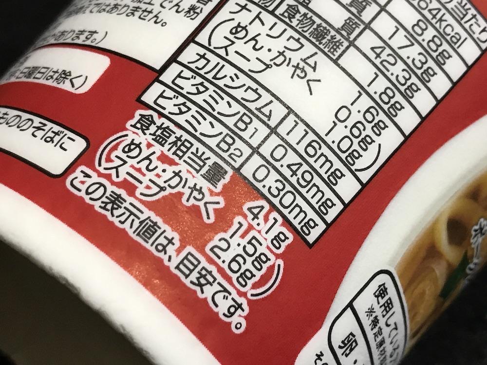 スパイスでキレのある味Noodleしょうゆ 食塩相当量