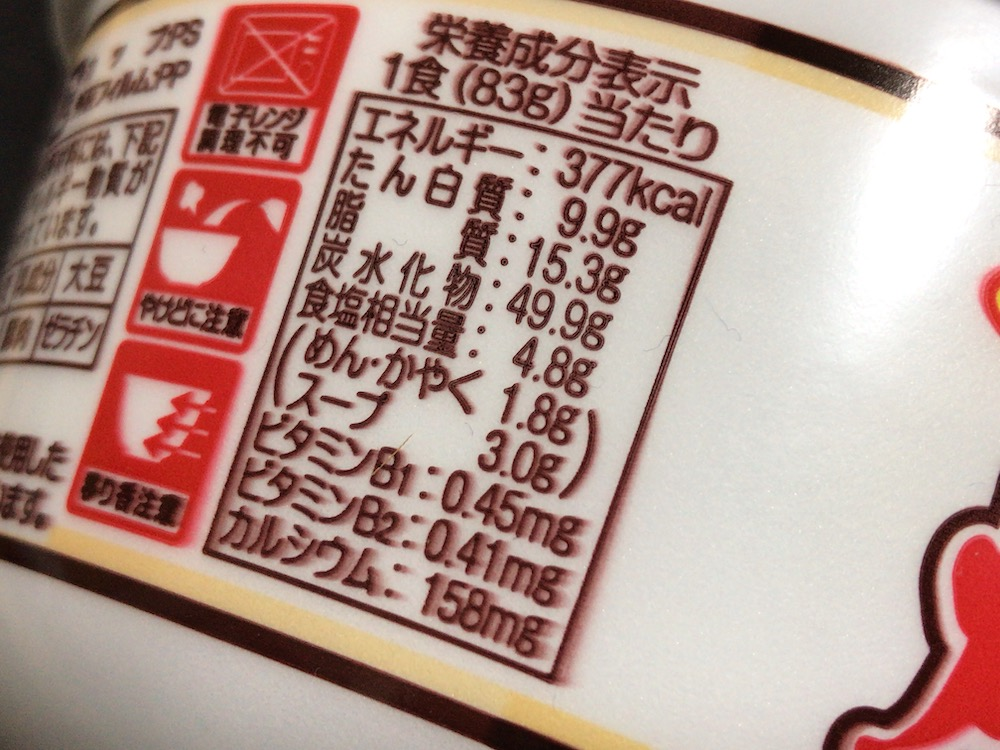 サンポー 焼豚ラーメンにんにくとんこつ味 食塩相当量