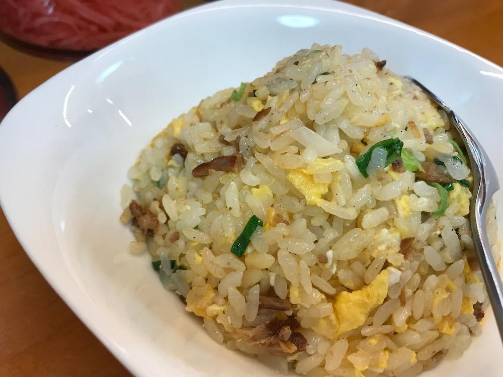 2019久留米とんこつ 盛多や 半焼き飯