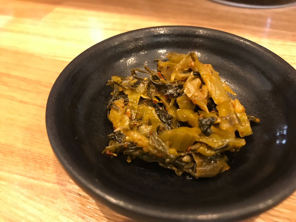 ラーメンきいち 辛子高菜