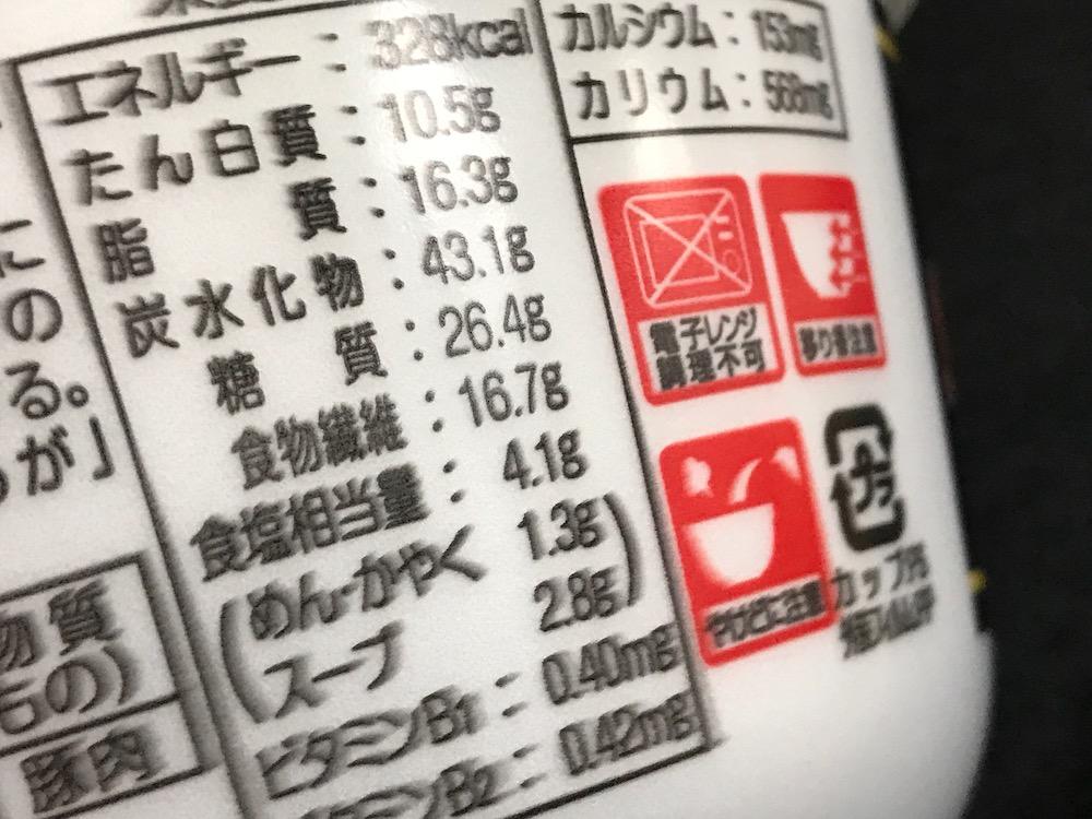 サンポー焼豚ラーメンpresents 食塩相当量