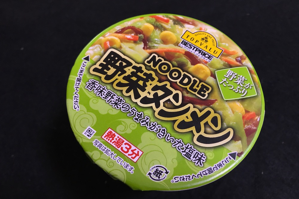 トップバリュ ヌードル野菜タンメン