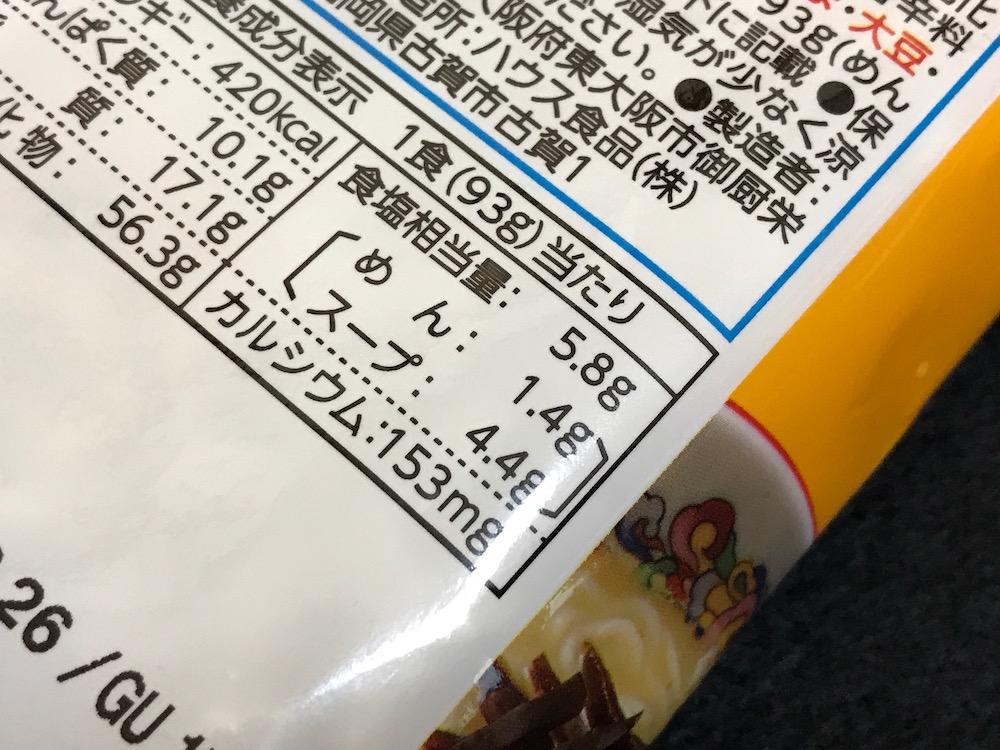 うまかっちゃん濃い味 食塩相当量