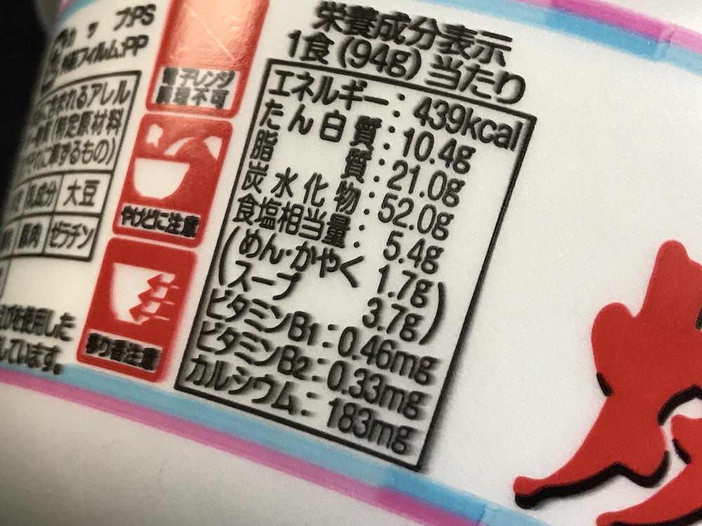 サンポー焼豚ラーメン食塩相当量