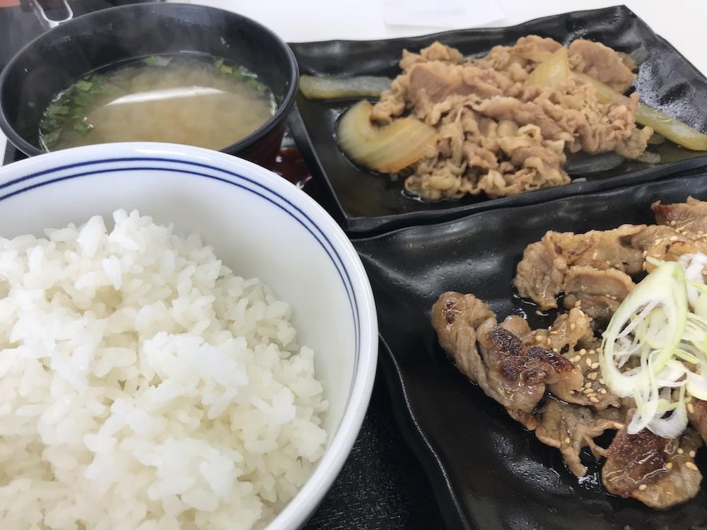 W定食牛皿・牛カルビ定食