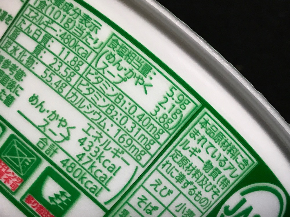 緑のたぬき 食塩相当量