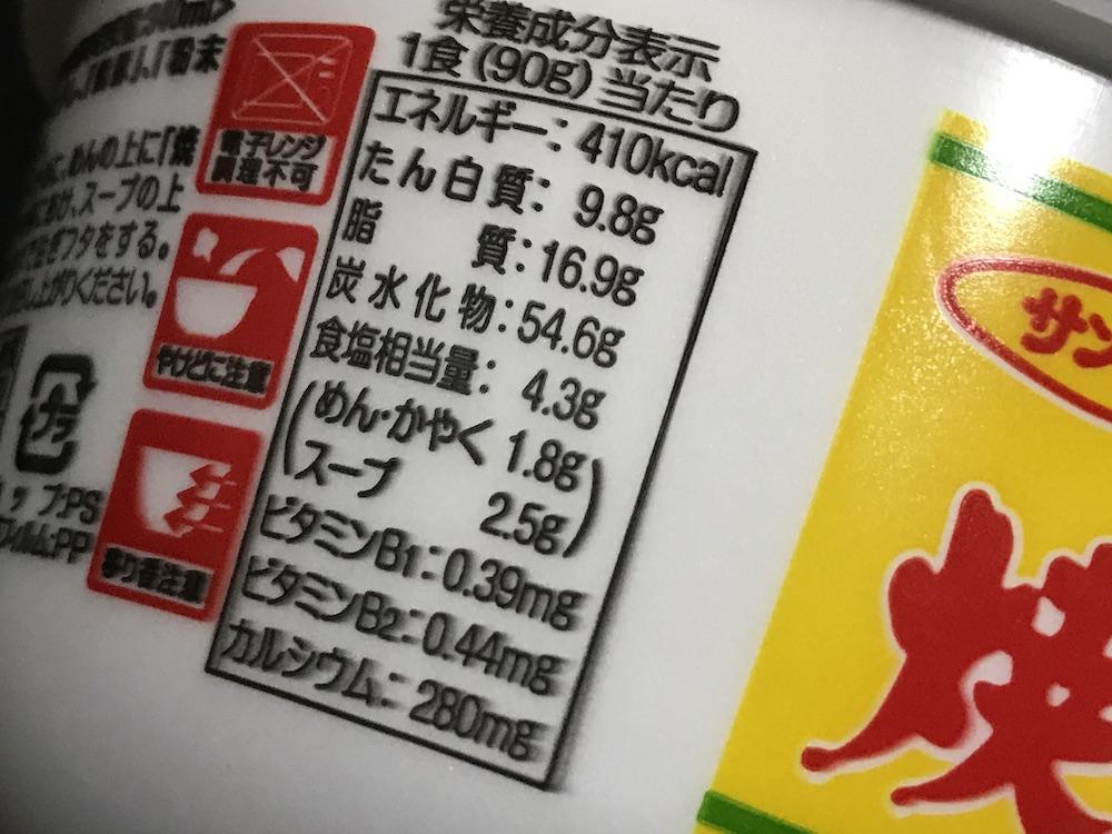 焼豚ラーメンスパイシーインドカレー味 食塩相当量
