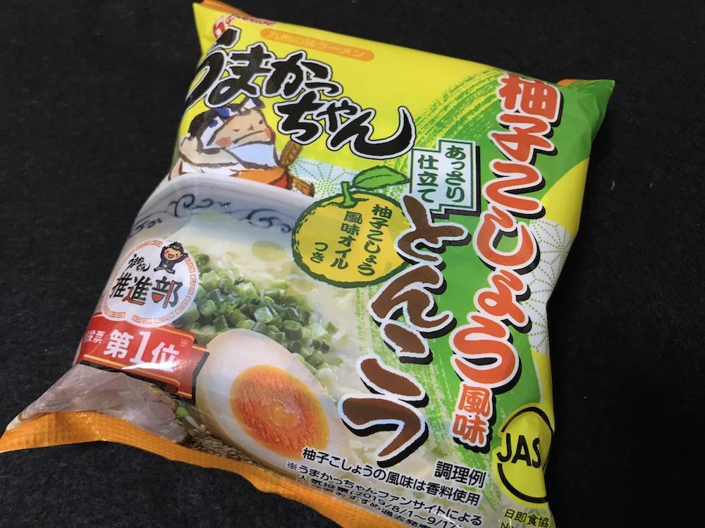 うまかっちゃん柚子こしょう風味とんこつ パッケージ
