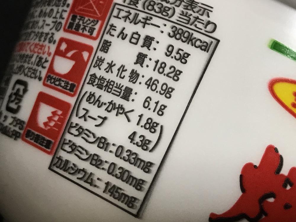 焼豚ラーメンペペローンチーノ味 食塩相当量