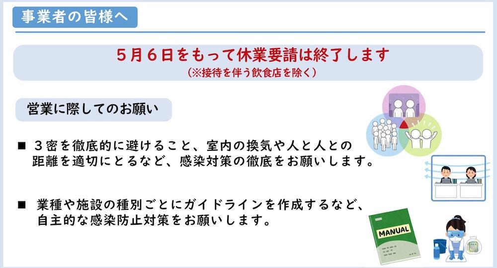 佐賀県2020年5月7日 より飲食店自粛解除