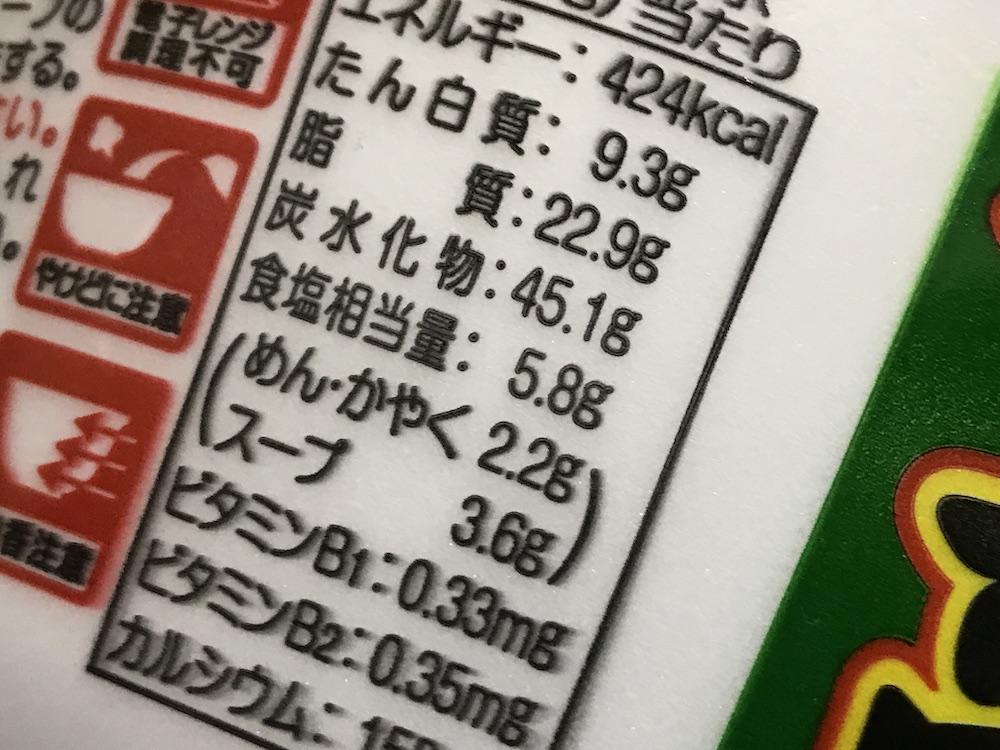 サンポー高菜ラーメン 食塩相当量
