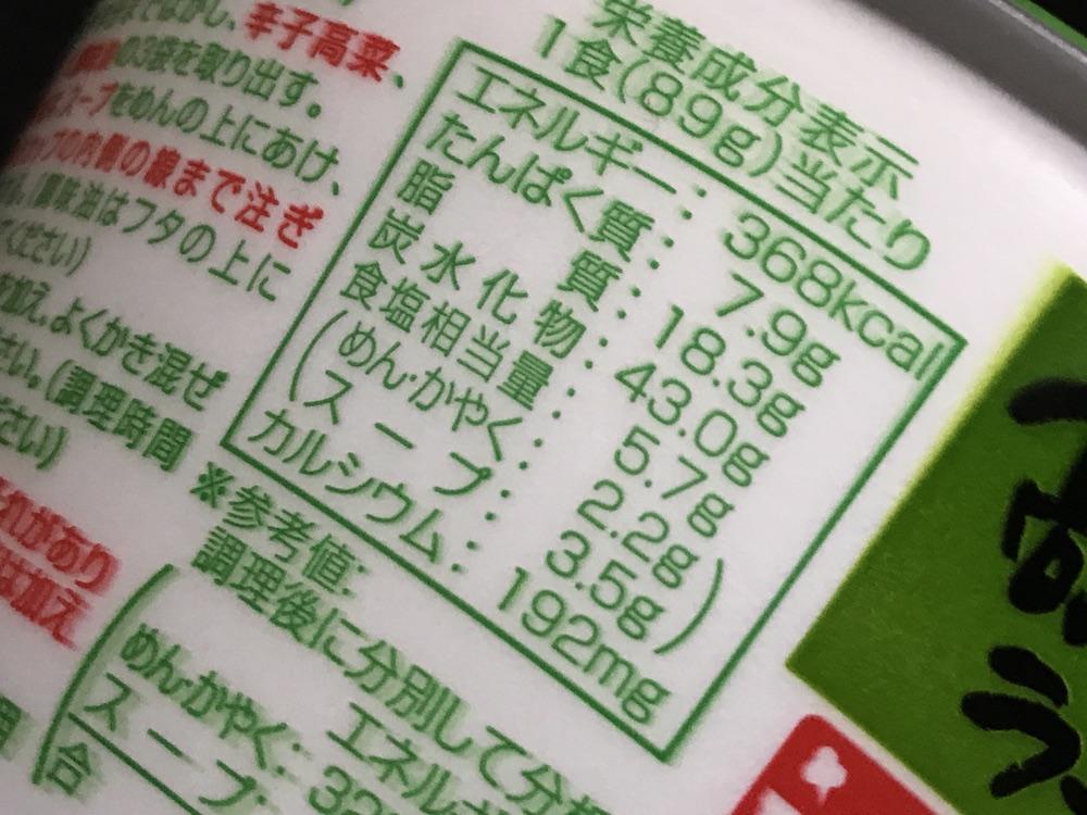 九州産高菜ラーメンとんこつ味 食塩相当量