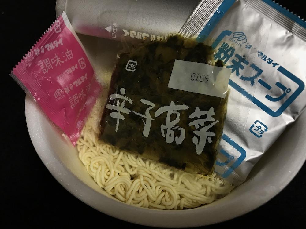 九州産高菜ラーメンとんこつ味 中身
