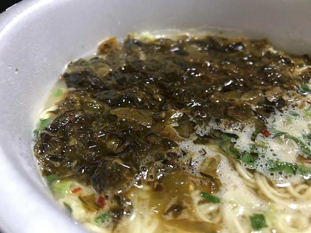 サンポー激辛高菜豚骨ラーメン 激辛高菜